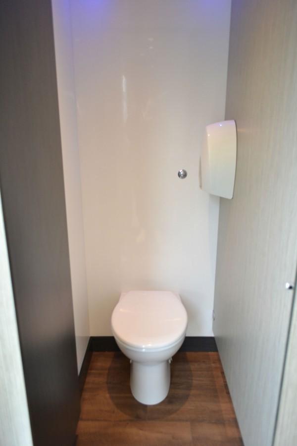 Stolen trailer toilets