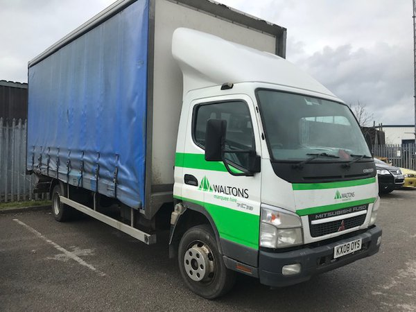 7.5T Curtain side truck for sale
