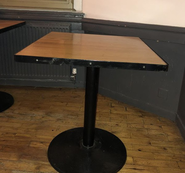 Metal Framed Square Dining Tables