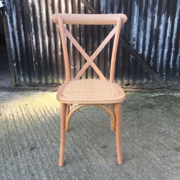 Clearance Cross Back Chairs Brand New