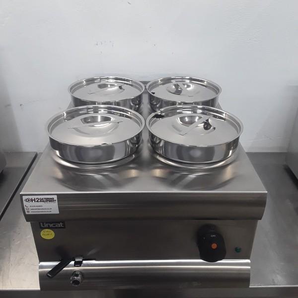 Ex Demo Lincat BS4W 4 Pot Wet Bain Marie with Warranty