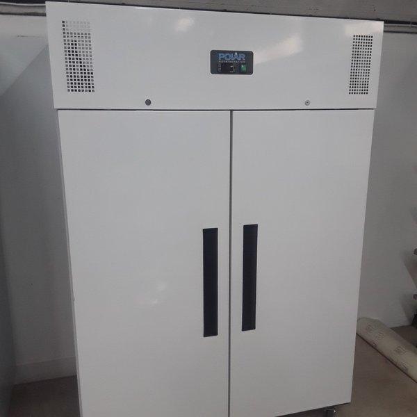 New B Grade Polar CD616 White Double Upright Freezer