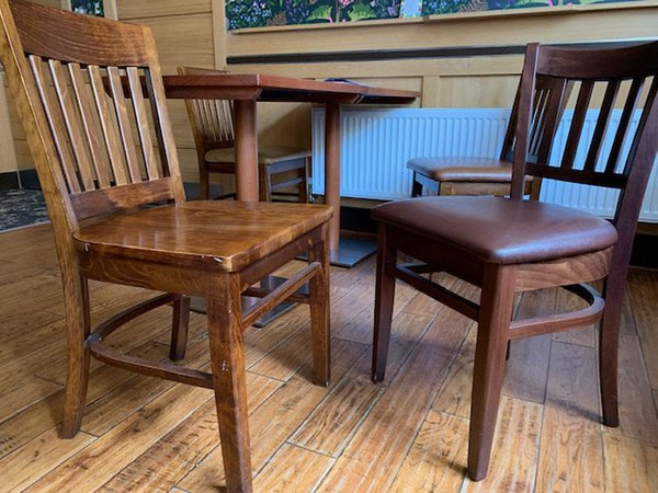 Wooden chairs & tables