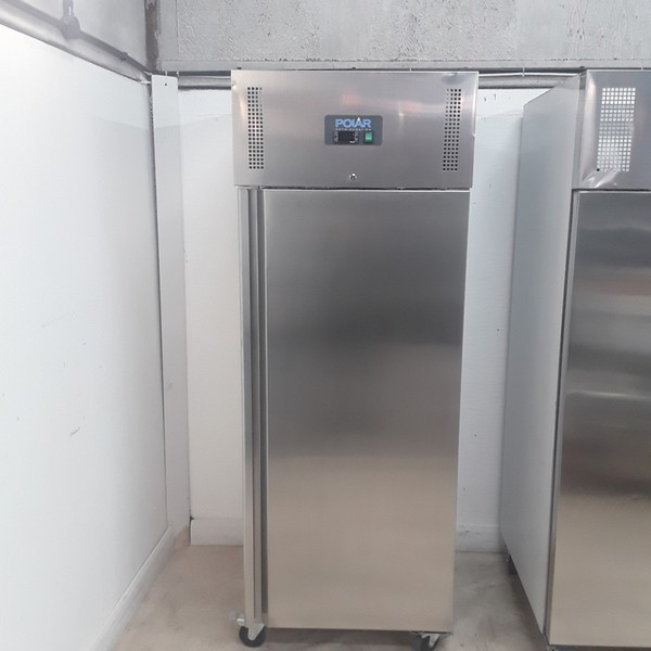 Ex Demo Polar U632 Stainless Steel Single Upright Fridge with Warranty