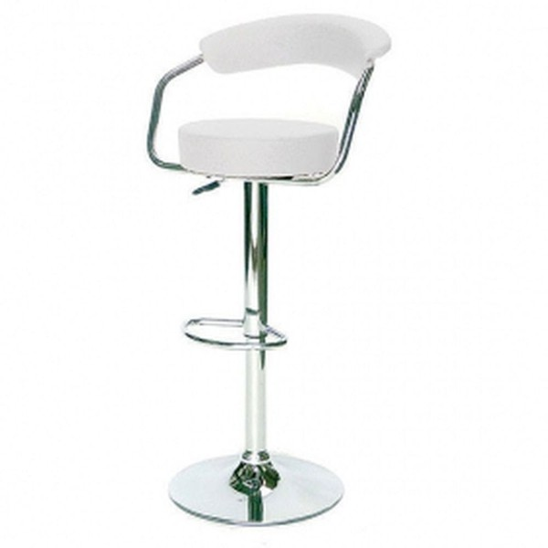 Buy Used White Stools & Glass Topped Poseur Tables
