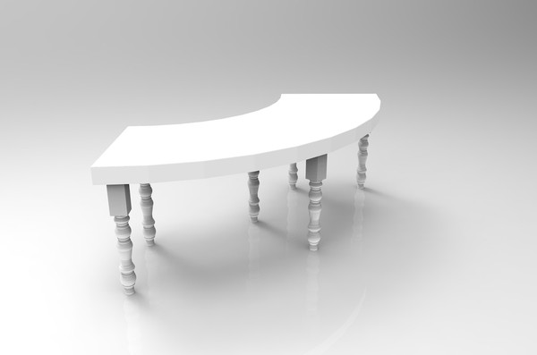 7ft  Curved Tables for sale