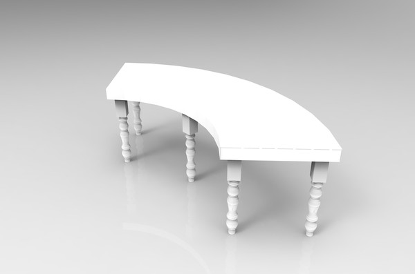8 7ft Bespoke Curved Tables for sale
