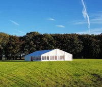 Clear span Kibeak Marquee 12 x 21 mtr, with brand new sides, alloy frame, excellent condition.