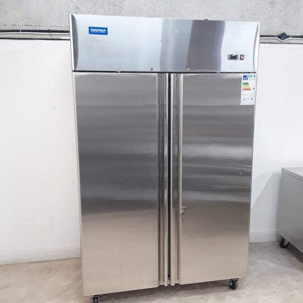 New B Grade Arctica HED102 Stainless Double Upright Freezer(9561)