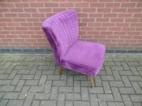 Purple Velvet Tub Style Chair