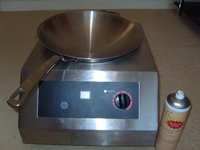 Table top induction wok