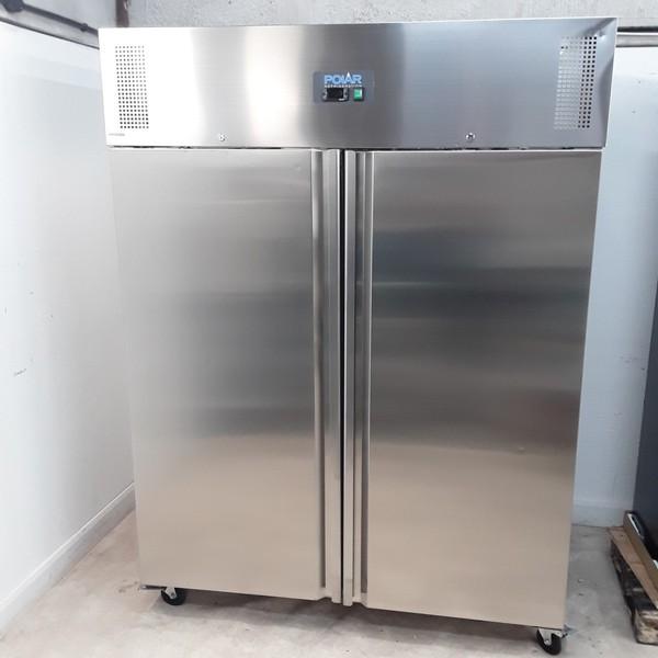 New B Grade Polar U635 Stainless Steel Double Upright Freezer(U9625)
