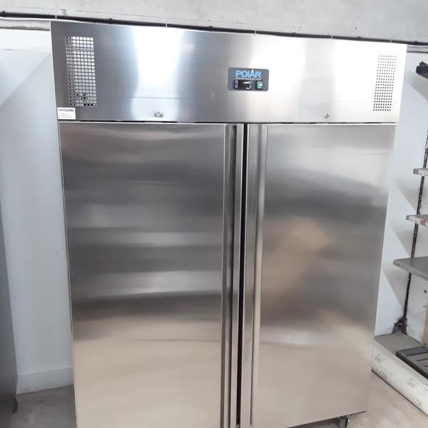New B Grade Polar U635 Stainless Steel Double Upright Freezer(U9623)
