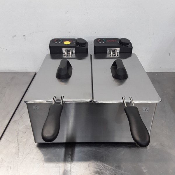 Ex Demo Caterlite GG199 Double Table Top Fryer 3.5L (9620)