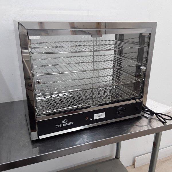 New B Grade Chefmaster HEC823 Heated Display Pie Warmer (9638)