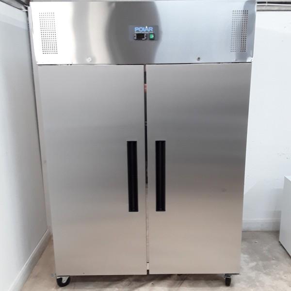 New B Grade Polar G595 Stainless Steel Double Upright Freezer(U9642)