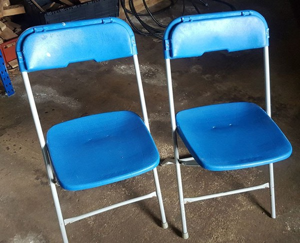 Jotlot of folding chairs for sale