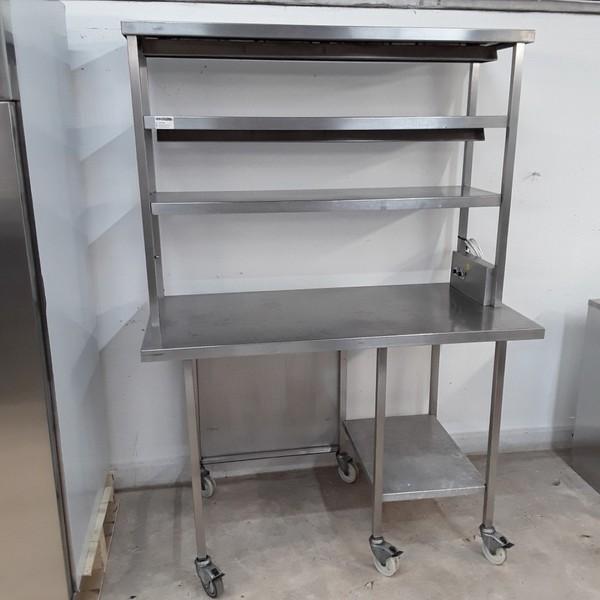 Used Heated Gantry Hot Lights Table (9673)