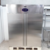 New B Grade Tefcold RF1420 Stainless Steel Double Upright Freezer (H9672)