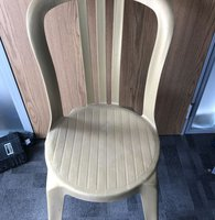 Gold Plastic Bistro Style Chairs For Sale