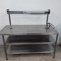 Used Heated Gantry Hot Lights Table