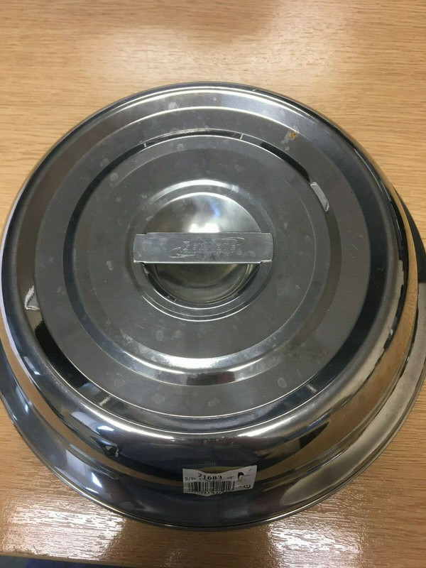 "Genware Round Stainless Steel Cloche Plate Cover For 10"" Plates"