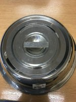 """Genware Round Stainless Steel Cloche Plate Cover For 10"""" Plates"""