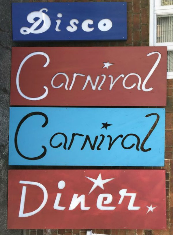 Disco, Carnival, Diner signs for events