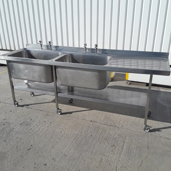 Used Bartlett Stainless Steel Double Sink (9782)