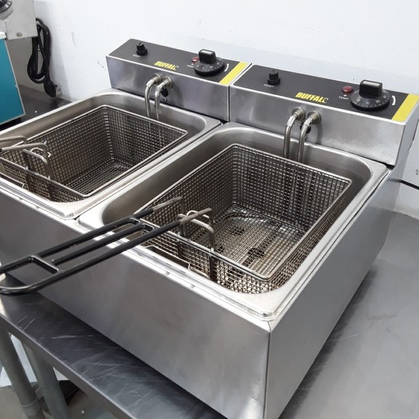 Buy Used Buffalo L485 Double Table Top Fryer 5L (9780)