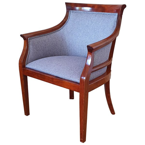 8x Used Solid Wood Upholstered Arm Chair (Product Code: MF3318) - Peterborough, Cambridgeshire