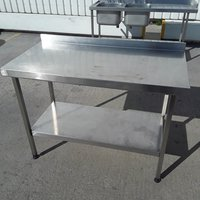 120cm stainless steel kitchen table
