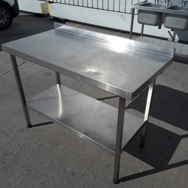 1.2m kitchen stainless steel table
