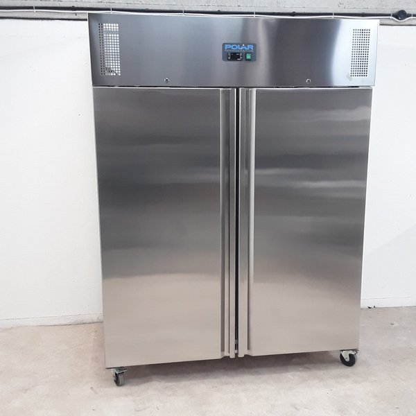 New B Grade Polar U634 Stainless Double Upright Fridge Heavy Duty	(9798)