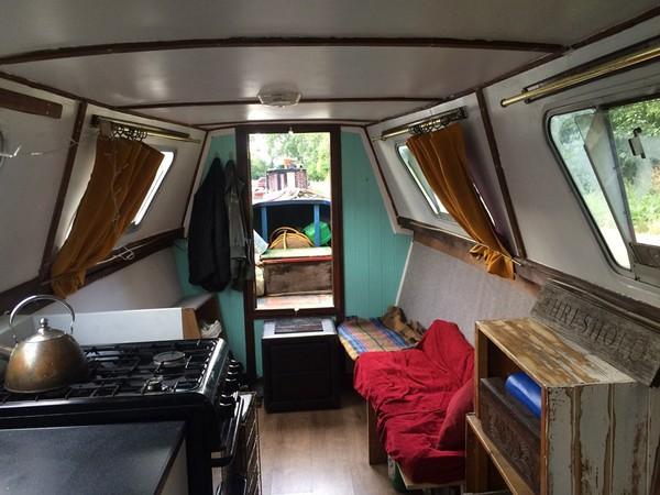 Interior of narrowboat