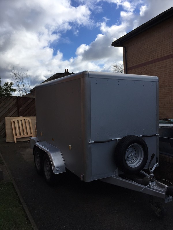 Buy Used Box Trailer twin Axle