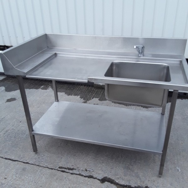 Used Stainless Steel Single Bowl Dishwasher Sink(9821)