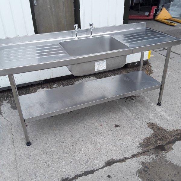 Used Stainless Steel Single Bowl Sink (9824)