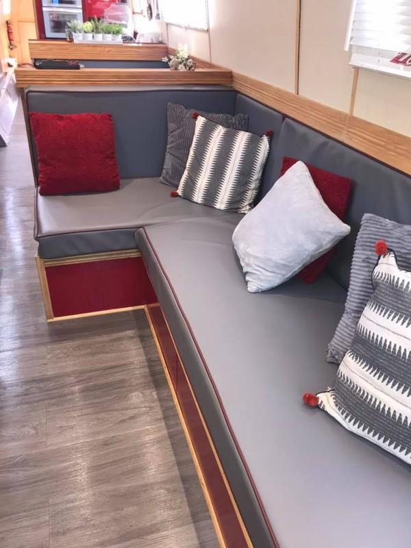Bench Seating In Narrowboat
