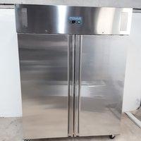New B Grade Polar U635 Stainless Double Upright Freezer Heavy Duty (W9847)