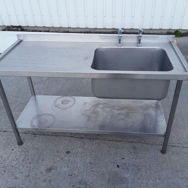 Used Stainless Steel Single Bowl Sink (9854)