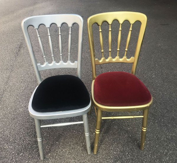 Gold And Silver Banquet Chairs - Hertfordshire