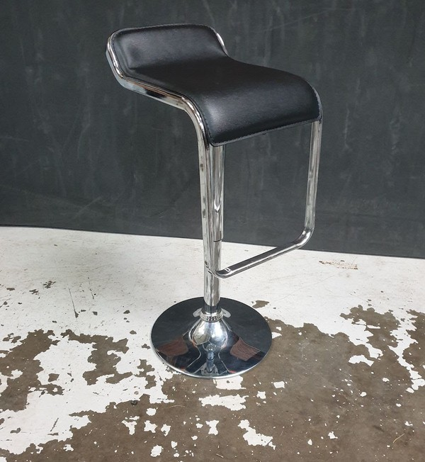 Black Faux Leather stools