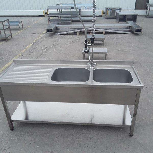 Large catering double sink