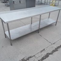 Stainless steel table Upstand 250cmW x 65cmD x 84cmH