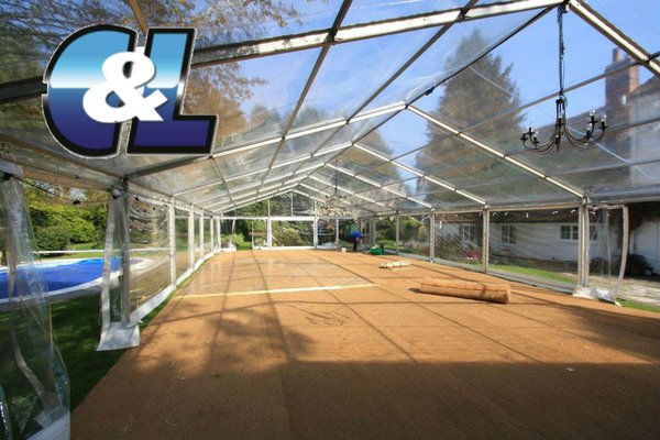 Clear marquee roofs and walls for sale