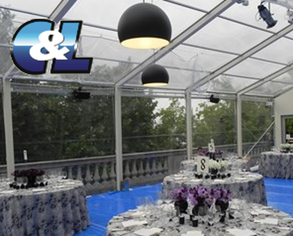 6m and 3m Clear marquee roofs