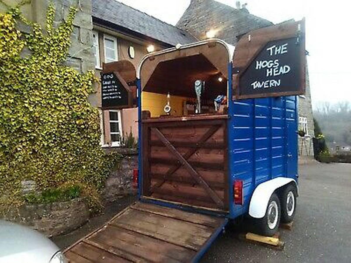 Secondhand Pub Equipment Pub Businesses For Sale Pub Bar Converted Horse Trailer Hope Valley Derbyshire