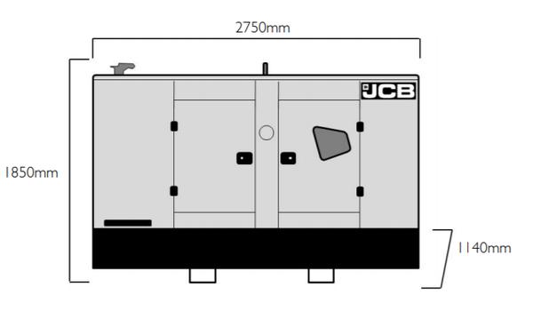 Event power  JCB White G66QS