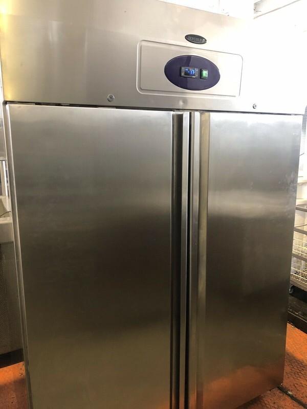 Tefcold Gastroline Stainless Steel Double Door Upright Freezer